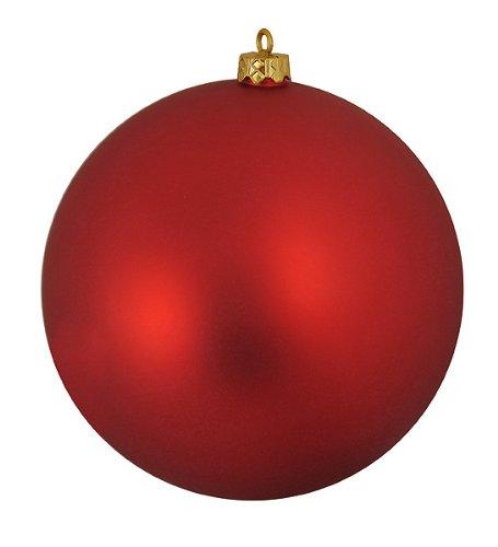 Matte Red Hot Commercial Shatterproof Christmas Ball Ornament 6″ (150mm)