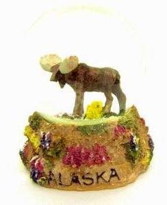 Alaska Snowglobe Waterglobe Tundra Moose 60MM
