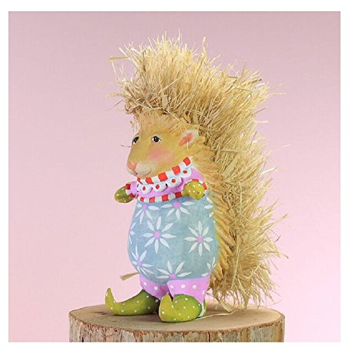 Patience Brewster Spring Home Decor Mini Pansy Porcupine Ornament