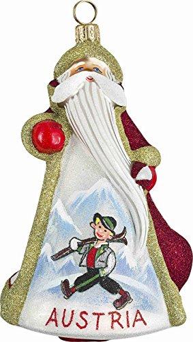 Glitterazzi Austrian Austria Santa Polish Glass Christmas Ornament Decoration