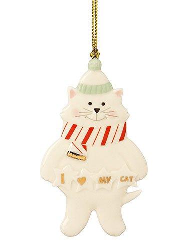 Lenox I Love My Cat Ornament