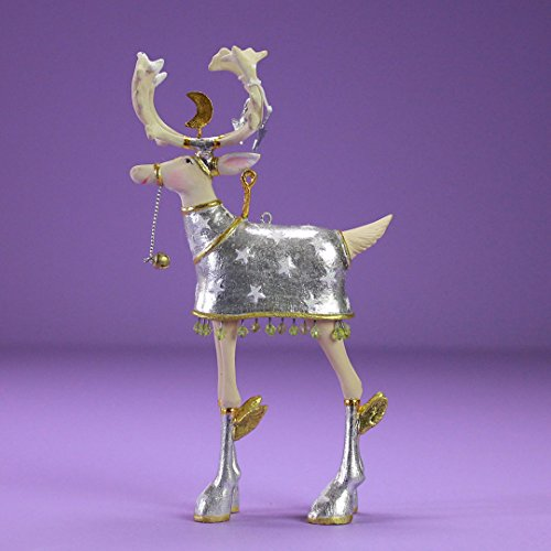 Patience Brewster Christmas Home Decor Moonbeam Mini Reindeer Ornament – Comet