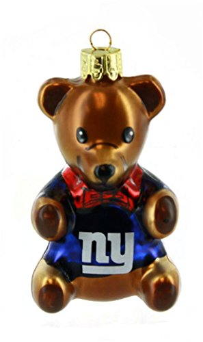 NFL New York Giants Teddy Bear Ornament