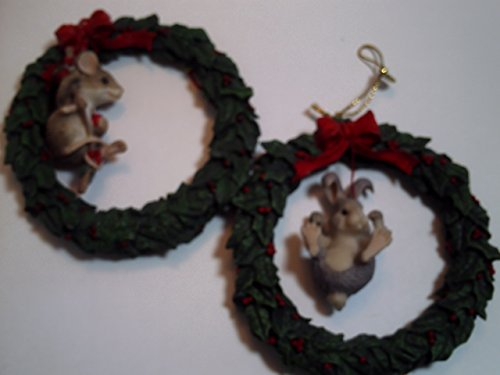 Charming Tails Holiday Wreath Ornaments 1993