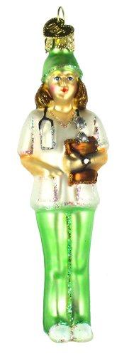 Old World Christmas Nurse Glass Blown Ornament