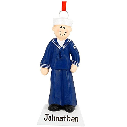 Navy Man Ornament