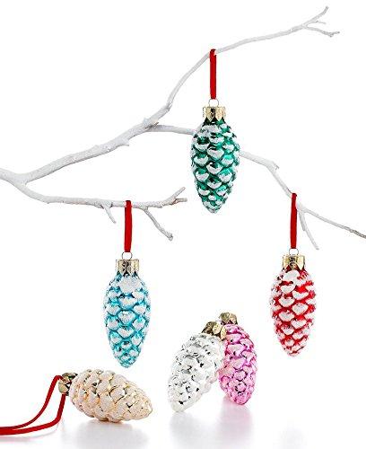 Holiday Lane Box of 6 Mini Pine Cone Ornaments