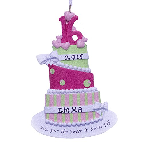 Personalized Sweet Sixteen Ornament-Free Personalization