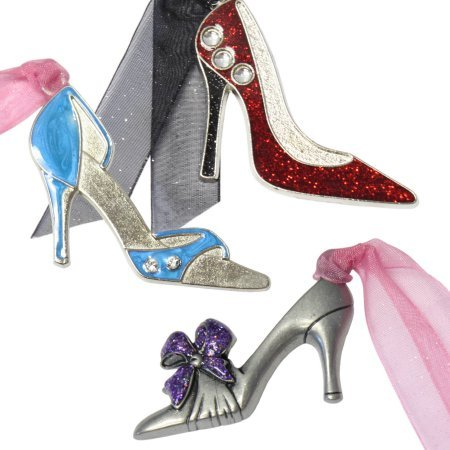 Personalized Gloria Duchin 3pc Ladies' Shoe Ornament Set comes in Chic and flashy
