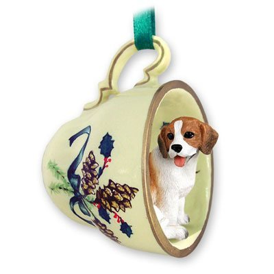 Beagle Green Holiday Tea Cup Dog Ornament by Conversation Concepts