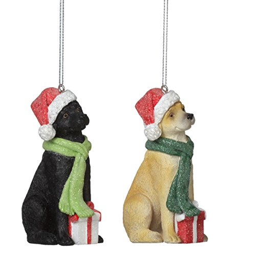 Bundled Up Golden Retriever Christmas Ornament