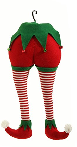 RAZ Imports – Peppermint Toy – 20″ Christmas Elf Christmas Red and White Stripes Tree Ornament