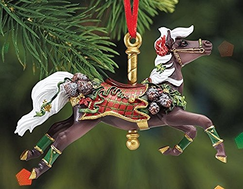 BREYER TARTAN – CAROUSEL ORNAMENT – 2016 HOLIDAY HORSE – LIMITED EDITION