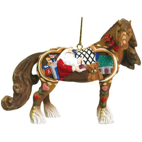 Westland Giftware Horse of a Different Color Ornament Figurine, 2.5-Inch, Santa's Workshop Clydesdale by Westland Giftware