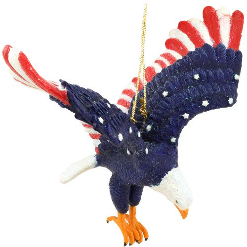 Kurt Adler US Flag Eagle Ornament