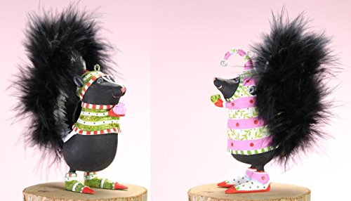 Patience Brewster Mini Snuffy Sal and Skunk Family Christmas Ornaments