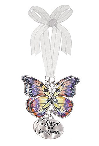 A Sister is a Friend Forever Metal Butterfly Ornament – By Ganz