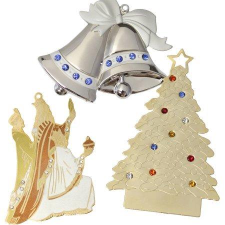 6-Piece Set, Jewel Christmas Ornaments