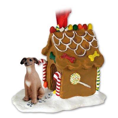 Italian Greyhound Ginger Bread House Ornament
