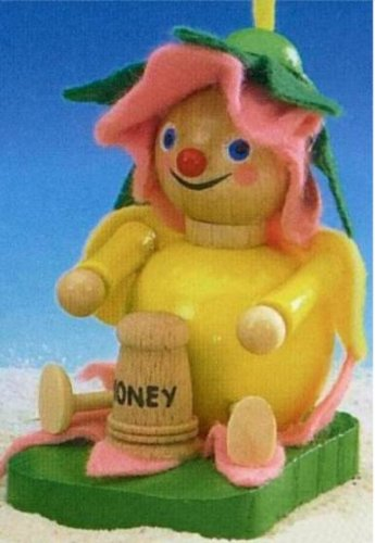 Steinbach Honey Bee Baby with Honey Pot and Flower Hat Ornament