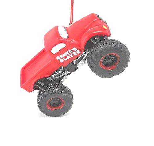 Midwest-CBK Santa's Slayer Red Resin Monster Truck Ornament
