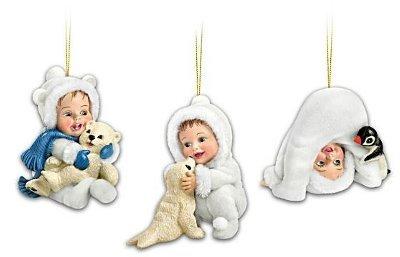 Snow Babies Cool Cuties Christmas Ornament Set of 3