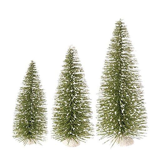 RAZ Imports – 9.5″ Bottle Brush Trees – Set of 3