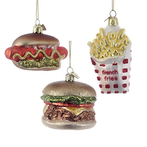 Kurt Adler 2.75″-3.5″ Noble Gems Fast Food Ornaments, Set of 3
