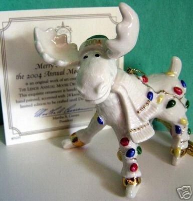 Lenox 2004 Moose Ornament Merry Mooseskating New in Box W/coa