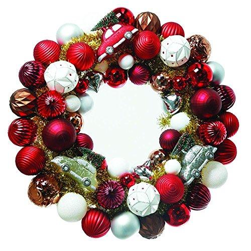 Martha Stewart Living 24 in. Winter Tidings Ornament Artificial Wreath