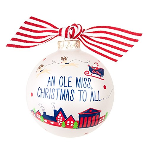Coton Colors Santa's an Ole Miss Fan Glass Ornament