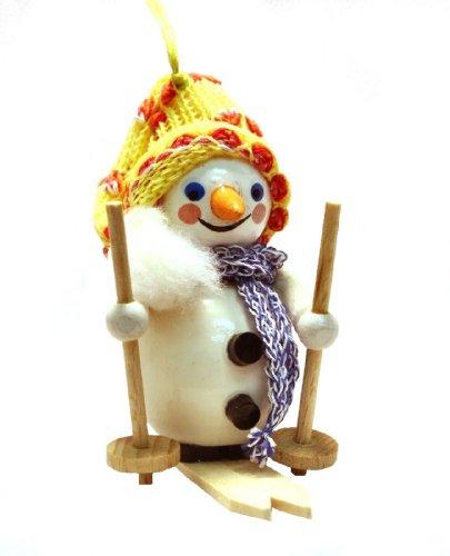 Steinbach Skiing Snowman Wood German Christmas Tree Ornament