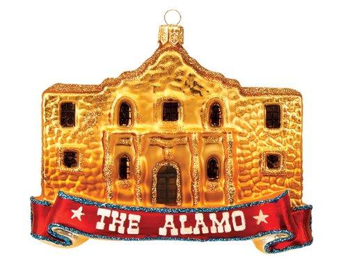 The Alamo Texas Polish Mouth Blown Glass Christmas Ornament Tree Decoration