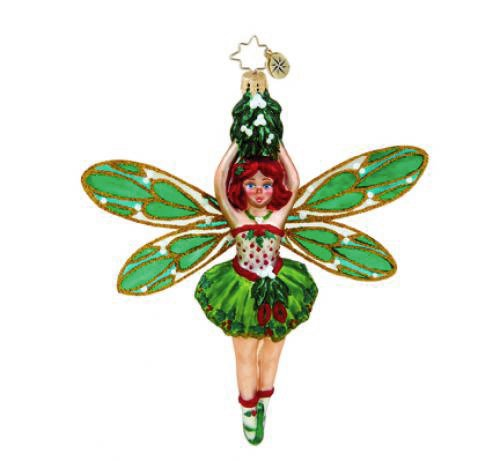 Christopher Radko Glass Mistletoe Fairy Christmas Ornament #1015553