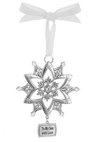 Ganz Snowflake Ornament – To My Son with Love