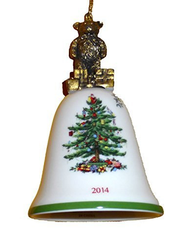 Spode Christmas Tree 2014 Annual Teddy Bear Bell Ornament by Spode