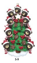 Bear Tree/9 Personalized Ornament