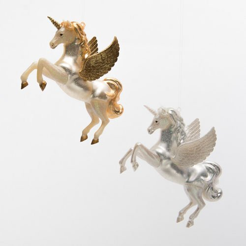 Pegasus Unicorn Ornaments by One Hundred 80 Degrees (Set of 2)