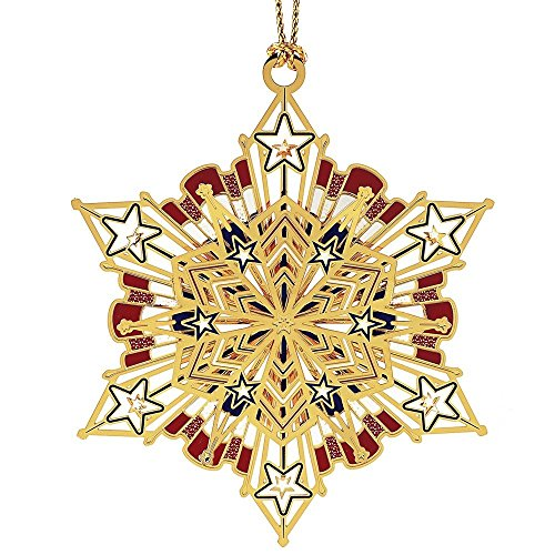 ChemArt Americana Snowflake Ornaments