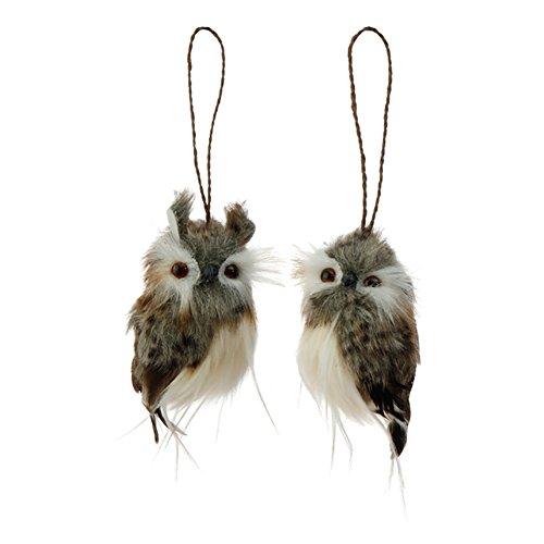 4″ Owl Ornaments – Set of 2