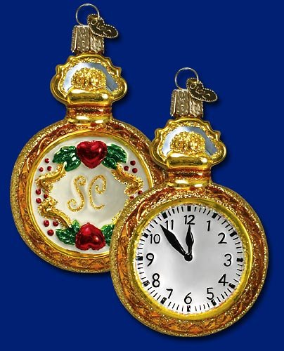 Pocket Watch Christmas Ornament