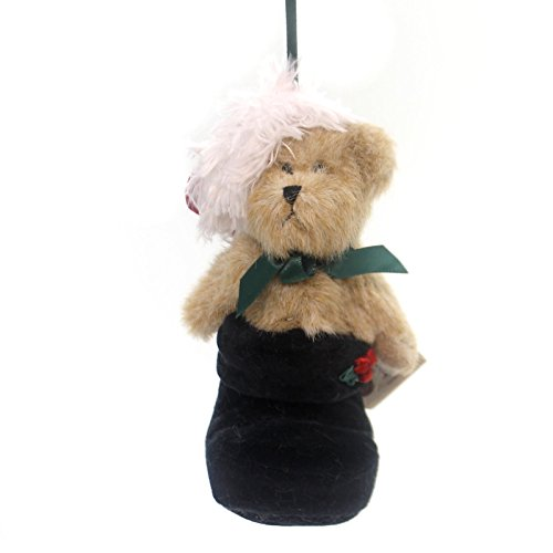Boyds Bears Plush S.C.BOOTSLEY ORNAMENT Fabric Teddy Bear Santa Hat 562448