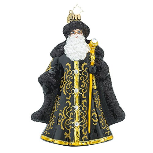 Christopher Radko St. Nicholas Noir Santa Claus Christmas Ornament