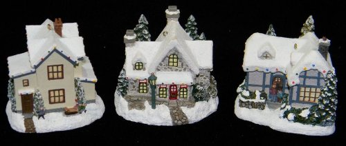 Thomas Kinkade Cottage Ornaments Winter Memories Illuminated Collection 10th Issue 2001