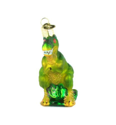 Old World Christmas T-Rex Glass Blown Ornament