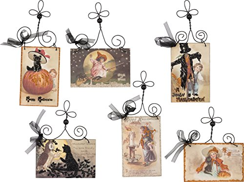 PBK Halloween Decor – Vintage Wood Signs Postcard 6pc Set #30326