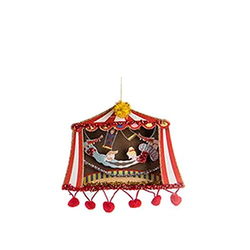 One Hundred 80 Degrees Circus Theme Hanging Paper Ornament (Trapeze Artist)