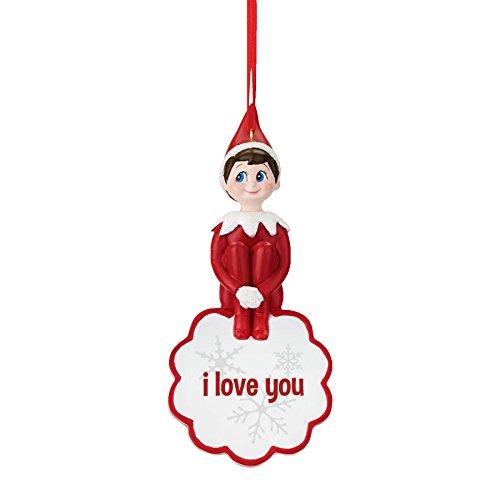 Department 56 Elf on The Shelf Snowflake I Love You Ornament