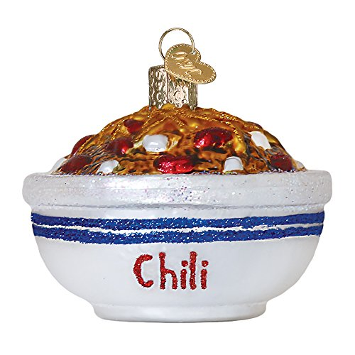 Old World Christmas Bowl Of Chili Glass Blown Ornament