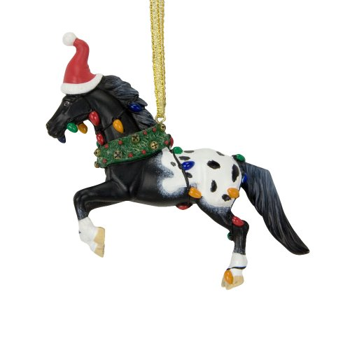 Trail of Painted Ponies from Enesco Happy Christmaslidays Ornament with Christmas 3.8 IN